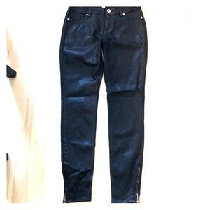 Ted Baker London Annna Black Waxed Jeans Size 28